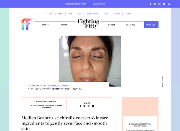Fighting Fifty - CosMedix Benefit Treatment Peel – Review