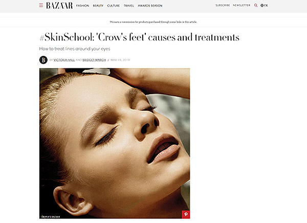 Harper's Bazaar - #SkinSchool: 'Crow's feet' causes and treatments