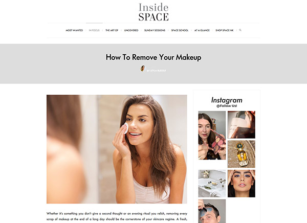 Space.NK - Inside Space - How To Remove Your Makeup